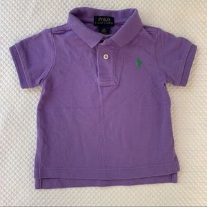 Boys Purple Polo